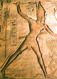 Ramesses II smiting, Abu Simbel