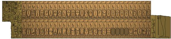 Saqqara Kings List (copyright PLstrom)