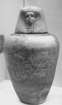 Canopic Jar of Senenhenaef copyright Wolfram Grajetzki