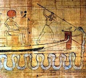 Set spearing Apep