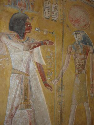 Siptah, from his tomb KV 47 (copyright John D Croft)