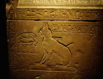 The sarcophagus of Tamiut (Tamyt) the cat of Prince Thuthmose