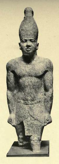 Statue of Teti found near his pyramid at Saqqara