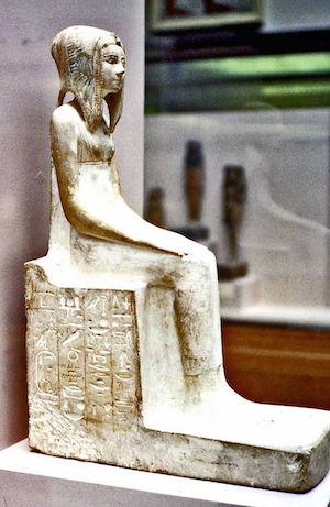 Probably fake statuette of Tetisheri (copyright Juan R. Lazaro)