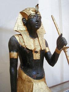 Tutankhamun wearing the Nemes Headdress, from the Tomb of Tutankhamun