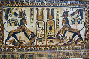 Tutankhamun's names inside cartouches (copyright Pia L)