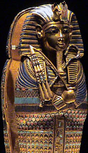 Coffinette which held the king's liver, tomb of Tutankhamun (copyright Kaveh)