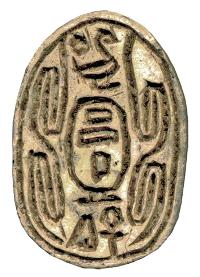 Hyksos scarab with the name of King Seshi