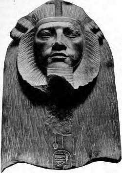 Sphinx of Amenemhat III usurped by Apophis and much later by Psusennes I