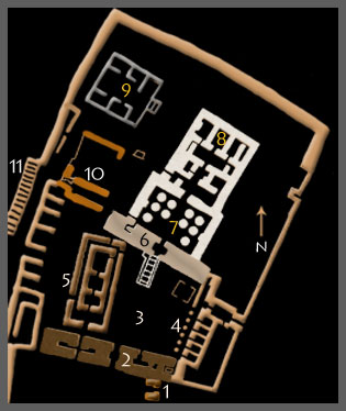 Plan of the Temple of Isis at Philae