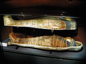 Late Period mummy in coffin (copyright Gerald Ducher)