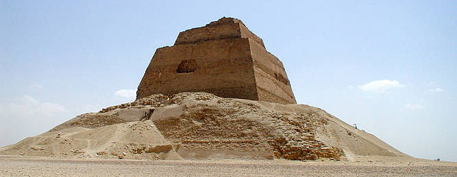 Sneferu's pyramid at Meidum from www.egyptarchive.co.uk