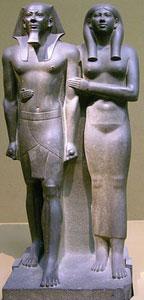 Menkaure with his wife Khamerernebty (copyright Alex Feldstein)