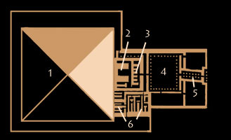 plan of the pyramid complex of Neferirkare, Abusir