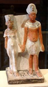 Nefertiti with Akhenaten (copyright Guillaume Blanchard)
