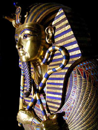 Tutankhamun's coffin which may have originally been made for the burial of Smenkhare