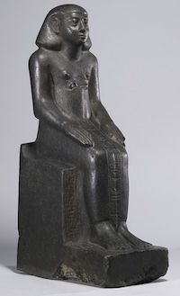 Statue of Neferhotep, Second Intermediate Period, Walters Art Museum