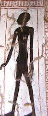 The shadow of Irynefer as depicted in his tomb, Deir el Medina