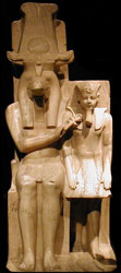Sobek with Amenhotep III, from the Luxor temple (copyright Gerard Ducher)