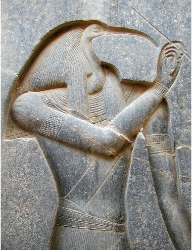 Thoth at Luxor (copyright Jon Bodsworth)