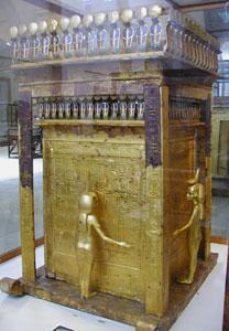 Shrine from the tomb of Tutankhamun (copyright Gerard Ducher)