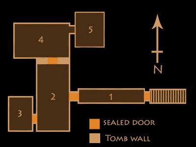 Plan of the tomb of Tutankhamun