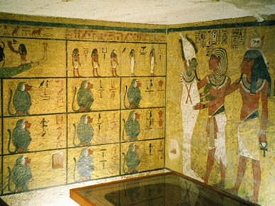 Decoration in tomb of Tutankhamun (copyright Hajor)
