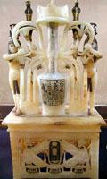 Alabaster perfume jar from Tutankhamun's tomb (copywright 2005 Daniel Speck FreeStockPhotos.com)
