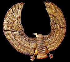 Tutankhamun's vulture collar (copyright 2005 Daniel Speck FreeStockPhotos.com)